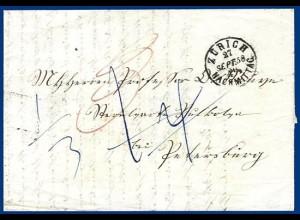Schweiz Russland 1858, Porto Brief v. Zürich. #S310