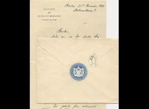 DR 1904, Norwegen Schweden Konsulatssiegel auf Brief m. 20 Pf. Germania. #788