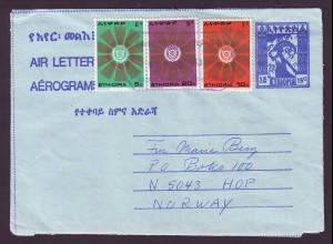 Äthiopien Ethiopia, R3 Hagere Maryam PO Ganzs. m. Zusatzfrank. n. Norwegen #990