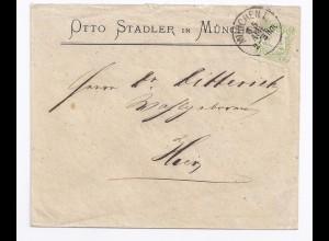 Bayern, EF 1 Kr. auf schönem Orts Brief München. #810