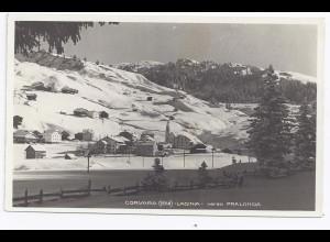 Italien, Corvara Ladinia, gebr. Südtirol sw- Foto Winter AK. #981
