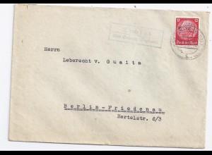 DR 1936, Eichigt ü. Oelsnitz Vogtland, Landpost Stpl. auf Brief m. 12 Pf. #1326