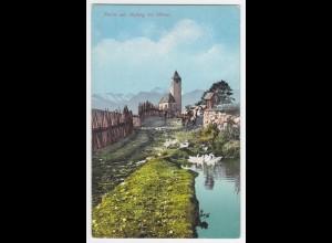 Italien, Südtirol Alto Adige, Avelengo Hafling bei Meran, ungebr. Farb AK. #1508