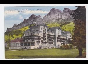 Italien, Südtirol, Hotel Carezza al Lago Karersee, ungebr. Farb AK. #819