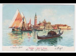 Italien, Venedig Venezia, Isola S. Giorgio, ungebr. Farb AK. #1382