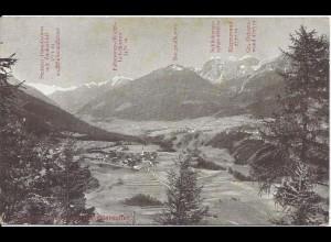 Italien, Südtirol, Stubaital u.d. Gletscher, ungeb sw-AK. Eisenbahn Text! #1639