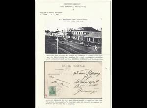 DR 1907, DSP L Hbg Westafrika XX auf Französisch Guinea AK m. 5 Pf. #2103
