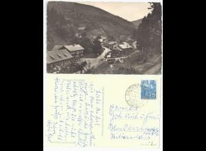 Thüringen, Saargrund, gebr. sw AK m. Stpl. Sachsenbrunn über Eisfeld. #2074