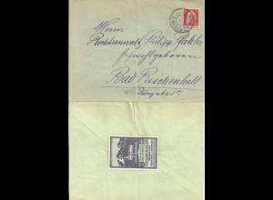 Bayern, Brief m. 10 Pf. v. Traunstein m. rs. Vignette v. Traunstein. #2868