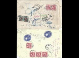 DR Schweiz Österreich, Braunschweig Retoursiegel auf Porto Nachsendebrief. #S551