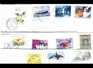 Island, ca. 1965/2000, 50 Bedarfsbriefe Inlandspost m. EF! #S575
