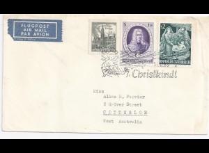 Österreich Christkindl 1963, Luftpost Brief n Australien! Gute Destination #2051
