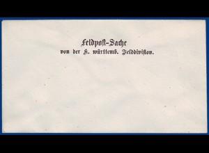 Württemberg, ungebrauchter Feldpost-Vordruckumschlag Brief. #S670