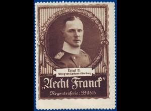 Sachsen Altenburg, Herzog Ernst II, alte Vignette. #S790