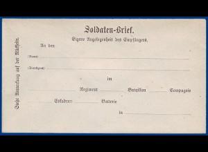 Bayern, ungebrauchter Feldpost-Vordruckumschlag Brief. #S671