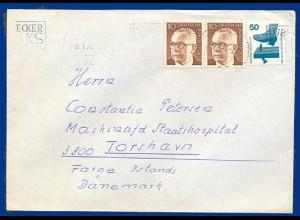 BRD, 1974, Brief v. Lübeck auf die Faeroer. Destination! #S481