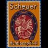 Scheuer Hufeisenpäckl, alte Werbevignette m. Drachen, Pferd u. Ritter. #S745