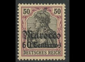 DP Marokko, Nr. 28 **, 50 Pf. m. Überdruck 60 Centimos, sauber postfrisch. #1589