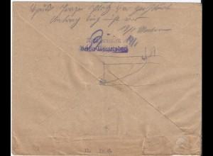 Berlin 1950, Brief m. Haus zerstört..., Nicht ermittelt Berlin-Wilmersdorf #S570
