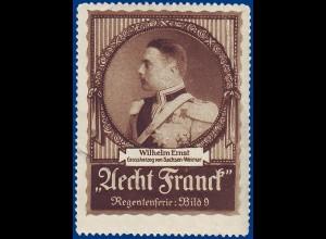Sachsen Weimar, Großherzog Wilhelm Ernst, alte Vignette. #S789