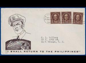 Philippinen 1945, US-Propaganda-Umschlag. #S411