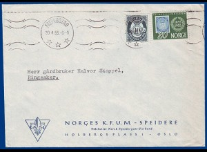 Pfadfinder Scouts, offizieller Norwegen Fredrikstad Umschlag KFUM-SPEIDERE #S415