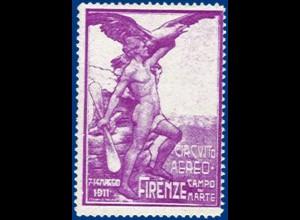 Italien, Firenze, Circuito Aereo 1911, Vignette. #S351