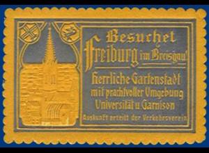 alte Vignette Besuchet Freiburg im Breisgau #S373