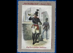 Preussen, Kgl. Preussischer Postillon, alte Vignette. #S379