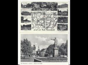 Bad Bramstedt, 2 ungebr. sw-AK , u.a. Gasthaus, Wildbad etc. #1355