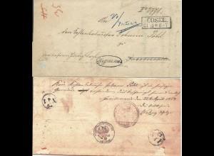 Preussen 1858, R2 Cosel u Beamten Stpl.auf Retour Brief n. Jacobswalde, Polen