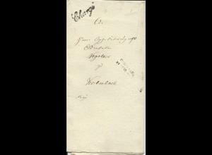 Bayern, L2 Cronach (Kronach) u. L1 Chargé auf Franko Brief nach Kulmbach #2079