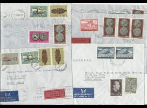 Griechenland, 6 Luftpost Brief n. Südafrika, dabei 2mal Express.