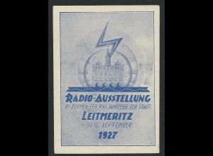 Leitmeritz Radio Ausstellung 1927, attraktive Vignette. #1778