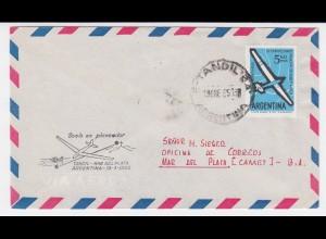 Argentinien 1965, Segelflug Brief Tandil -Mar del Plata. #2392