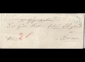 Braunschweig, gesiegelter Franco Brief an Richter Klugkist in Bremen. #2632