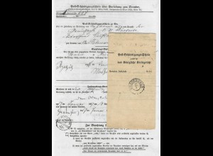 Preussen 1867, Post Behändigungs Schein m. K2 Gnadenfeld. Oberschlesien