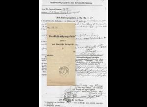 Preussen 1862, gedruckter Post Behändigungs Schein m. K2 Gnadenfeld.