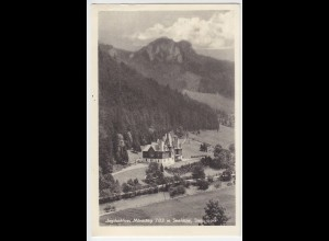 Österreich, Steiermark, Jagdschloss Mürzsteg, gebr. sw AK. #315