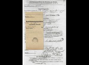 Preussen 1866, gedruckter Post Behändigungs Schein m. klarem K2 Gnadenfeld.