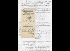 Preussen 1854, K2 Ratiborer Hammer Bahnh. auf Post Insinuations Dokument