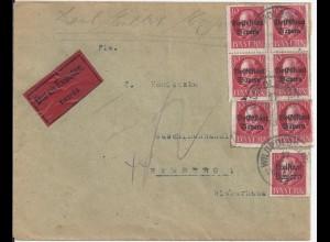Bayern 1919, 7x10 Pf. Volks-/Freistaat auf Eilboten Brief v. Wildpoldsried #2626