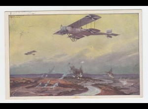 Frankreich 1915, Marseille, dt. Militär Flugzeug über der Marne