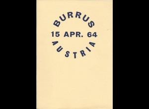 Österreich Literatur: Burrus Austria 1964, Original Auktionskatalog + Ergebnisse