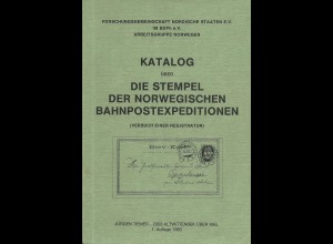 Norwegen Literatur: Tiemer, Katalog d. norweg. Bahnpost Stempel