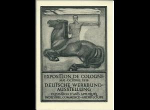 Köln 1914, Deutsche Werkbund-Ausstellung, Kunstdruck auf Pergaminpapier