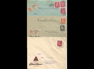 DR 1929/32, 3 Firmen Brief v. Schalkau Kr. Sonneberg, dabei 2 Einschreiben