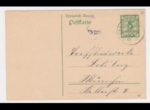 Bayern 1910, K1 Gr. Karolinenfeld auf Ganzsache n. München