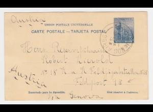 Argentinien 1915, Ganzsache v. Buenos Aires an Österreich Feldpost 98 Adresse