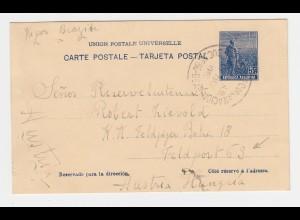 Argentinien 1915, Ganzsache v. Buenos Aires an Österreich Feldpost 63 Adresse